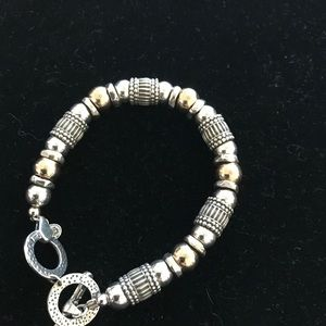 Silpada #B1223 two-tone, etched sterling silver